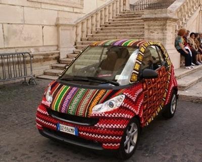 Garngraffiti-minibil