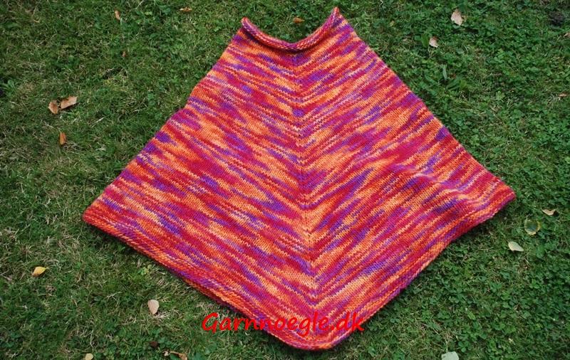 Multifarvet poncho2