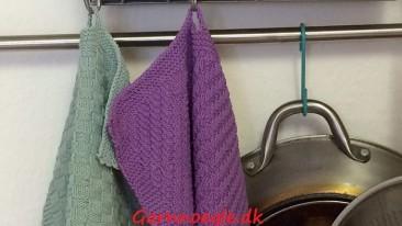 Strikkede håndklæder