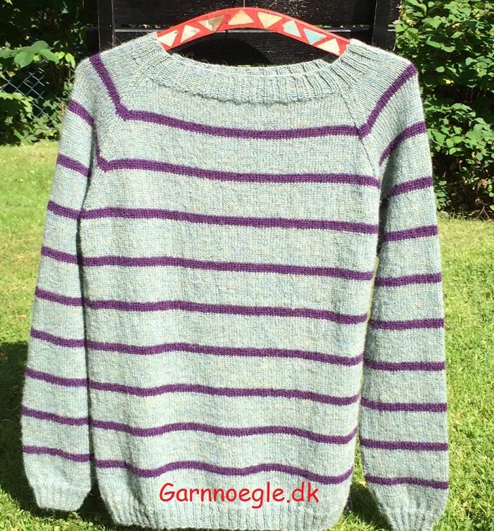 Stribet bluse - groenlilla2